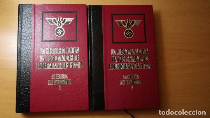 LOTE 2 LIBROS LA HISTORIA VIVIDA EN LOS CAMPOS DE EXTERMINACION NAZIS.AÑO 1976 (Militar - Libros y Literatura Militar)