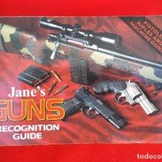 Militaria: JANE´S GUNS, GUÍA DE PISTOLAS, RIFLES Y AMETRALLADORAS .. Lote 170548592