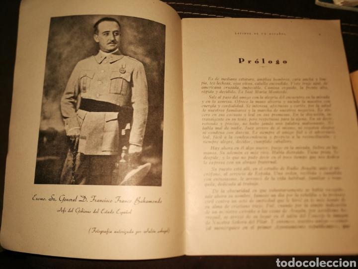 Militaria: LATIDOS DE UN ESPAÑOL, ALOCUCIONES GUERRA CIVIL.1936.(IMPECABLE) - Foto 4 - 171641843