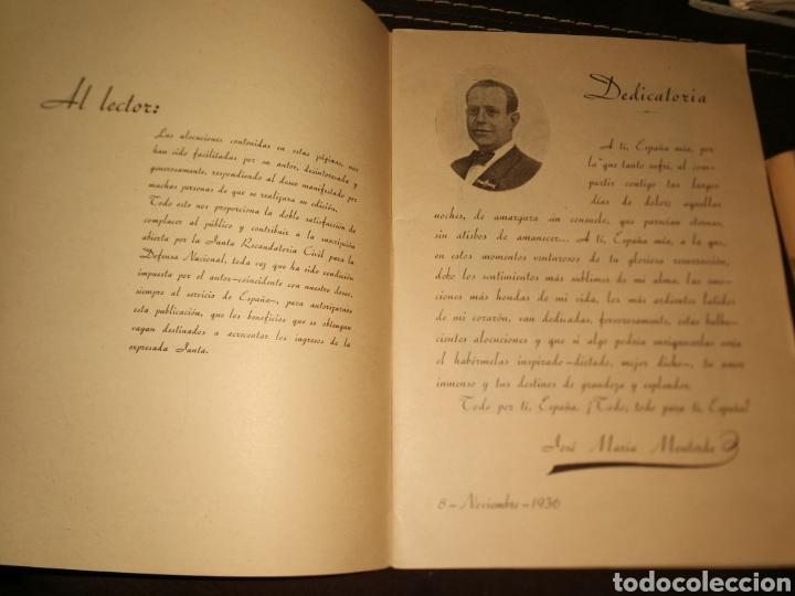 Militaria: LATIDOS DE UN ESPAÑOL, ALOCUCIONES GUERRA CIVIL.1936.(IMPECABLE) - Foto 5 - 171641843
