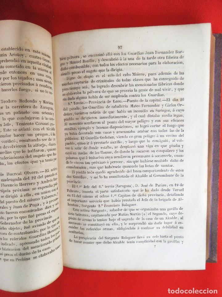 Militaria: Historia del cuerpo de la Guardia Civil año 1858 primera edicion - Foto 4 - 171705229