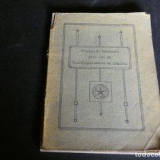 Militaria: MANUAL DE GIMNASIA USO EXPLORADORES DE ESPAÑA 1917 ED S. CALLEJA TAPA SOLTANDOSE PESA 150 GR. Lote 172158338