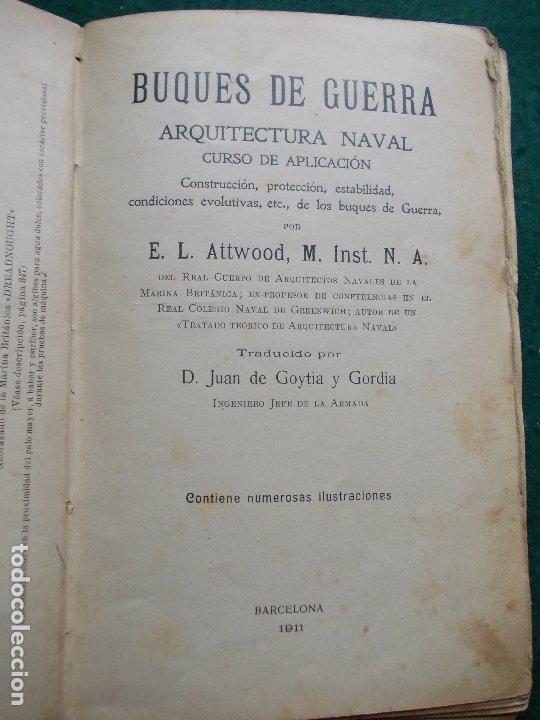 BUQUES DE GUERRA ARQUITECTURA NAVAL 1911 (Militar - Libros y Literatura Militar)