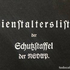 Militaria: LIBRO DIENSTALTERSLISTE DER SCHUTZSTAFFEL DER NSDAP 1936, TERCER REICH, ADOLF HITLER, SS,NAZI. Lote 81064760