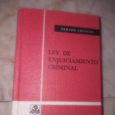 Militaria: LEY DE ENJUICIAMIENTO CRIMINAL , BOLETÍN OFICIAL DEL ESTADO 1979. Lote 173228487