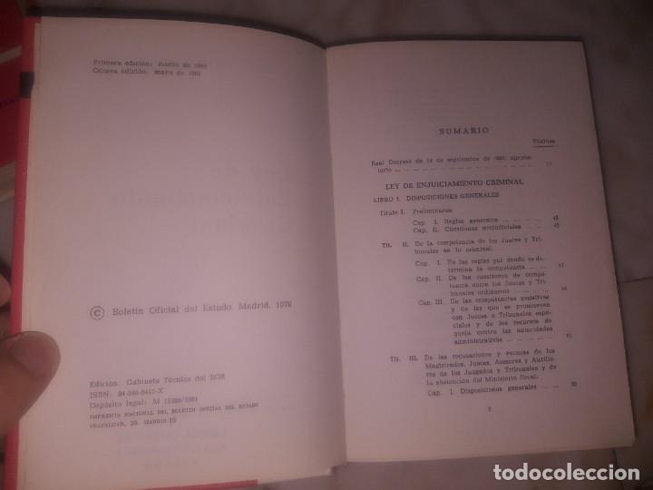 Militaria: ley de enjuiciamiento criminal , Boletín oficial del Estado 1979 - Foto 2 - 173228487