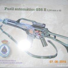 Militaria: FUSIL AUTOMATICO G36 E , 5,56 MMX45 CENTRO DE ENSEÑANZA DE LA ARMADA 9 LAMINAS . Lote 173589590