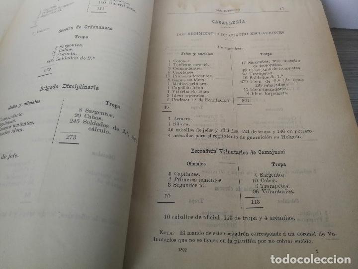 Militaria: 1892 - COLECCIÓN LEGISLATIVA DEL EJERCITO - PARQUE INTENDENCIA VALLADOLID - UNIFORMES, VIVAC, GUARDI - Foto 4 - 173676054