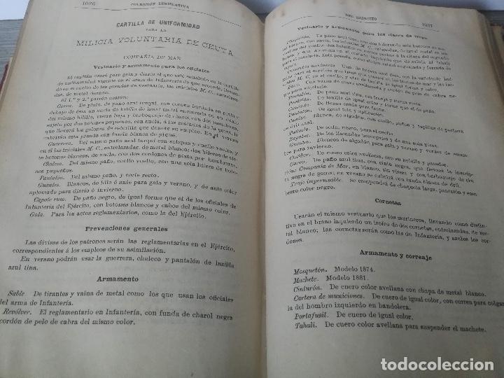 Militaria: 1892 - COLECCIÓN LEGISLATIVA DEL EJERCITO - PARQUE INTENDENCIA VALLADOLID - UNIFORMES, VIVAC, GUARDI - Foto 7 - 173676054