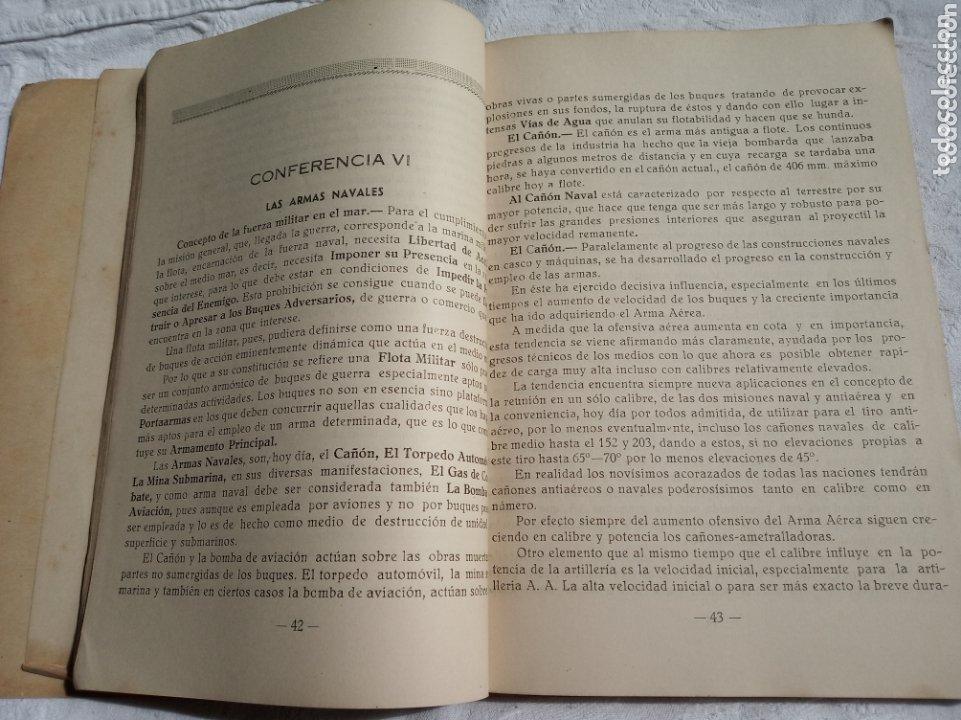 Militaria: Libro militar el arte naval militar. Epoca franquista.1950.ejercito.marina.aviacion.aire.falange.gua - Foto 3 - 173730094