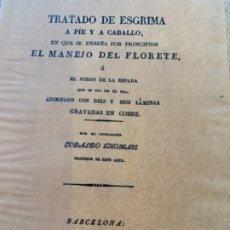 Militaria: TRATADO DE ESGRIMA A PIE Y A CABALLO. Lote 173794533