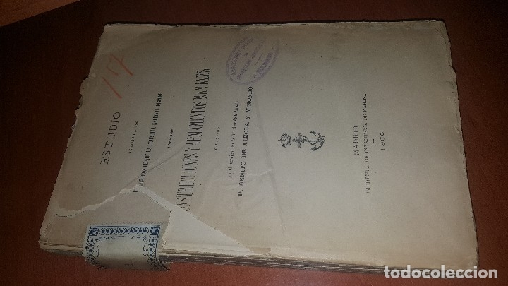 ESTUDIO RECURSOS QUE LA INDUSTRIA NACIONAL DISPONE PARA CONSTRUCCIONES NAVALES, B. DE ALZOLA, 1886 (Militar - Libros y Literatura Militar)