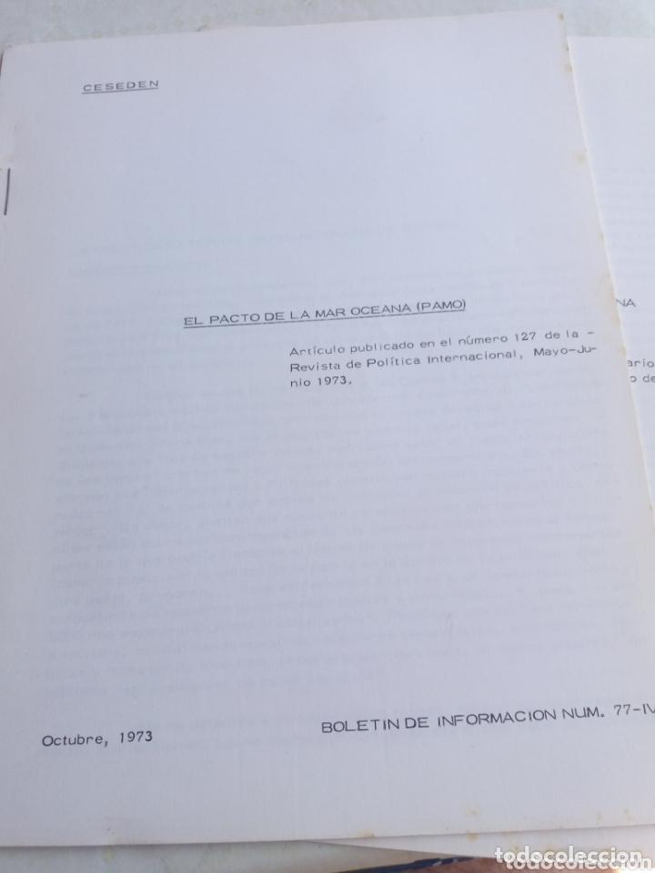 BOLETIN EL PACTO DE LA MAR OCEANA (PAMO) (Militar - Libros y Literatura Militar)