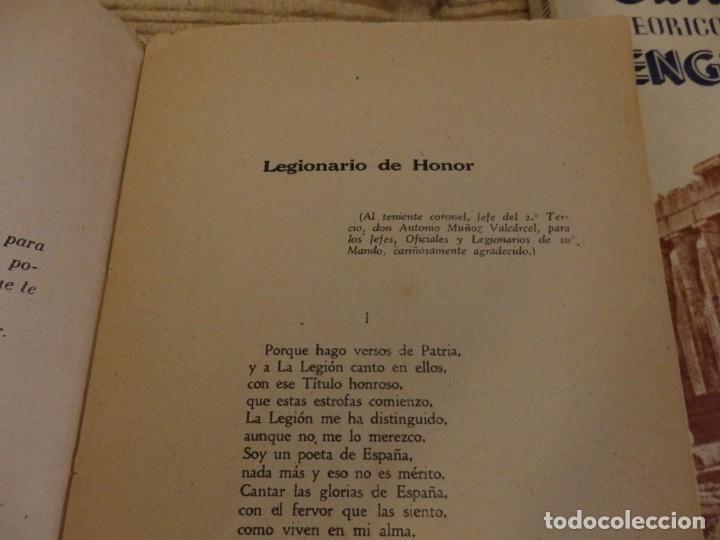 Militaria: VERSOS MIOS. AL SEGUNDO TERCIO. ANGEL GORDO MORENO LEGIONARIO DE HONOR. PRIMERA EDICION. 1942. - Foto 3 - 174549238