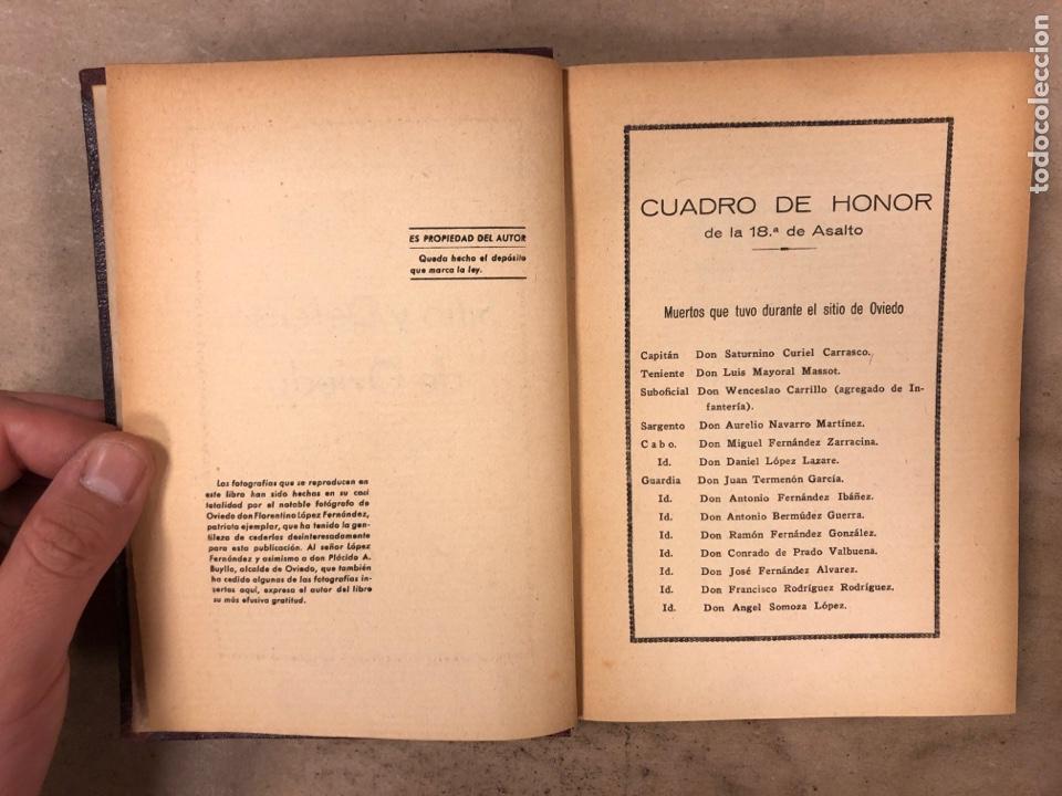 Militaria: SITIO Y DEFENSA DE OVIEDO. OSCAR PÉREZ SOLÍS. PRÓLOGO DEL GENERAL ARANDA. 1937 ARTES GRÁFICAS AFRODI - Foto 3 - 175117989