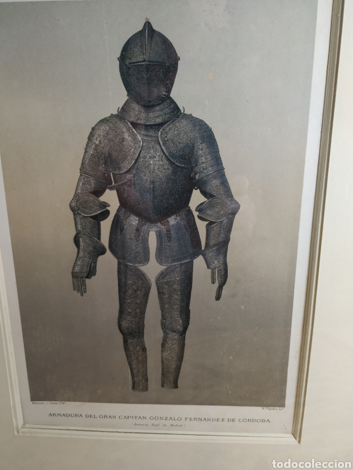 Militaria: Grabado armadura del gran capitán - Foto 2 - 175140137