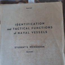 Militaria: WW2. ESTADOS UNIDOS. IDENTIFICACIÓN NAVÍOS Y TÁCTICAS NAVALES. AÑO 1944. Lote 175194912