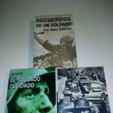 Militaria: VICTORIAS FRUSTRADAS (VON MANSTEIN)- RECUERDOS DE UN SOLDADO (GUDERIAN)- EL SOLDADO OLVIDADO (SAJER). Lote 175268218
