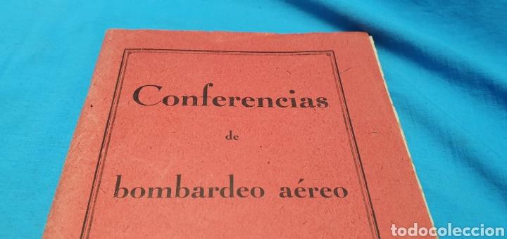 Militaria: Libro conferencias de bombardeo aéreo. Alicante 1938 . Modernas gráficas gutenberg - Foto 2 - 206948763