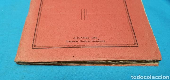 Militaria: Libro conferencias de bombardeo aéreo. Alicante 1938 . Modernas gráficas gutenberg - Foto 3 - 206948763