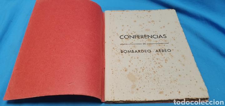 Militaria: Libro conferencias de bombardeo aéreo. Alicante 1938 . Modernas gráficas gutenberg - Foto 4 - 206948763