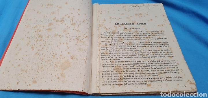 Militaria: Libro conferencias de bombardeo aéreo. Alicante 1938 . Modernas gráficas gutenberg - Foto 5 - 206948763