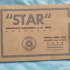 Militaria: MANUAL PISTOLA SUPER STAR 9 LARGO. Lote 175786830