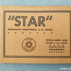 Militaria: MANUAL PISTOLA SUPER STAR 9 LARGO. Lote 175788930