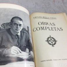 Militaria: OBRAS COMPLETAS GENERAL EMILIO MOLA VIDAL1940 LIBRERÍA SANTARÉN VALLADOLID. Lote 175867858