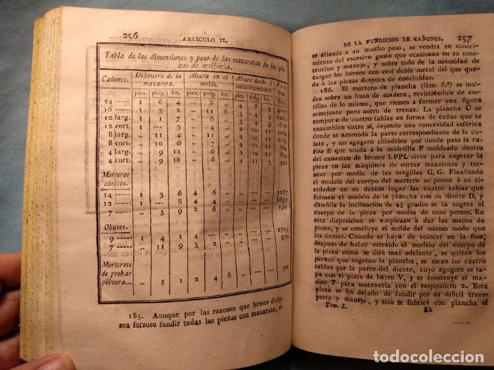 Militaria: Tratado de artilleria Morla 1816 y explicacion laminas artilleria - Foto 6 - 176025548