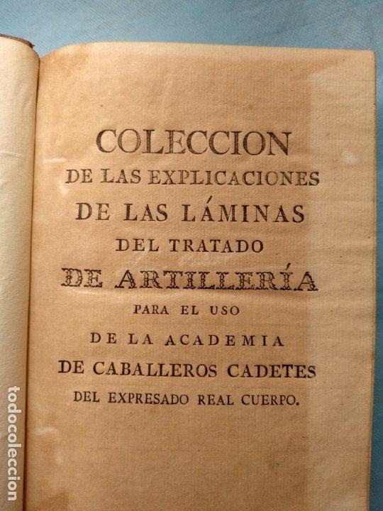 Militaria: Tratado de artilleria Morla 1816 y explicacion laminas artilleria - Foto 7 - 176025548
