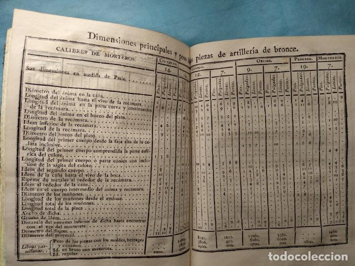 Militaria: Tratado de artilleria Morla 1816 y explicacion laminas artilleria - Foto 9 - 176025548