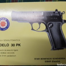 Militaria: MANUAL DE USUARIO PISTOLA STAR 30 PK, CAL. 9 MM PB. GUARDIA CIVIL. Lote 196032908