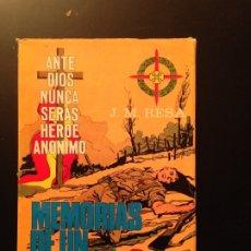 Militaria: MEMORIAS DE UN REQUETÉ - J.M. RESA - 1968 - CARLISMO, CARLISTAS. Lote 176776770