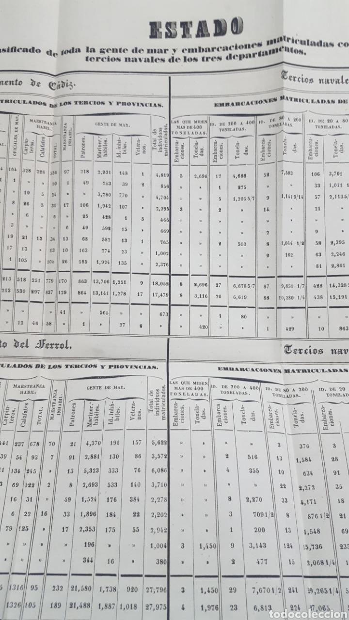 Militaria: ESTADO GENERAL DE LA ARMADA PARA EL AÑO 1848. ENCUADERNACION PIEL CON ESCUDO GRABADO, CON DEFECTO. - Foto 9 - 177828104