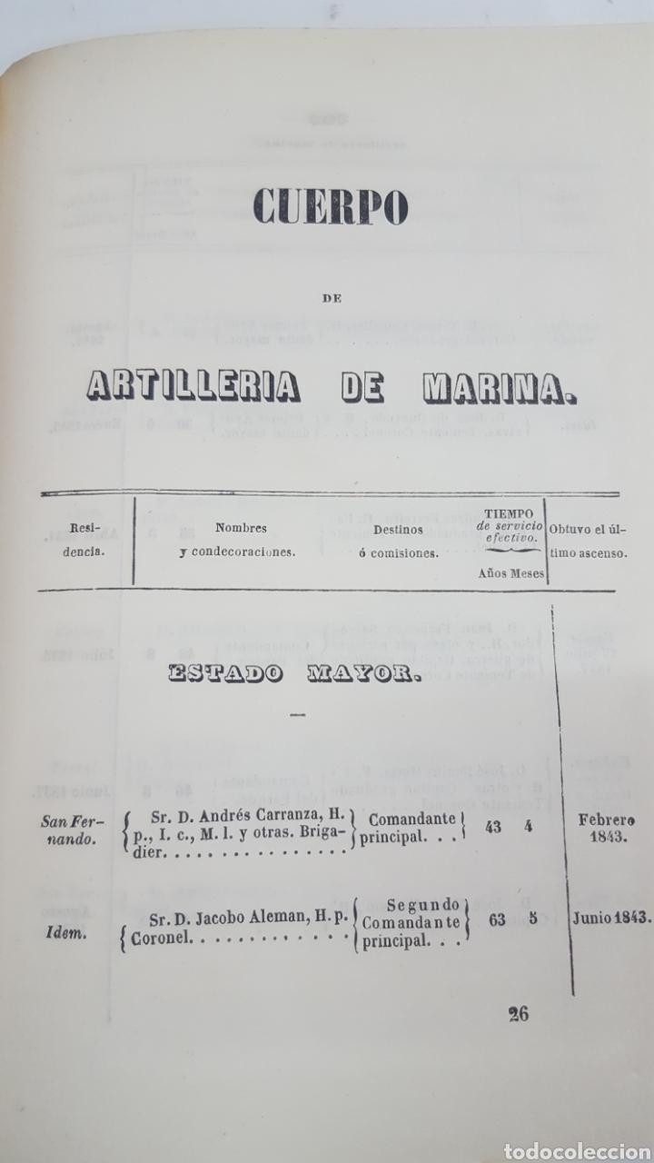 Militaria: ESTADO GENERAL DE LA ARMADA PARA EL AÑO 1848. ENCUADERNACION PIEL CON ESCUDO GRABADO, CON DEFECTO. - Foto 14 - 177828104