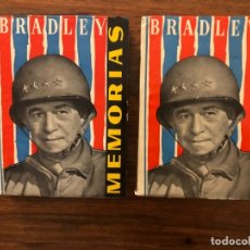 Militaria: OMAR N. BRADLEY. MEMORIAS. EDITORIAL AHR. 2 VOLÚMENES. SEGUNDA GUERRA MUNDIAL. Lote 178066608