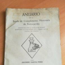 Militaria: ANUARIO DE LA ESCALA DE COMPLEMENTO HONORARIO DE FERROCARRILES. 1951. RENFE. . Lote 178113798