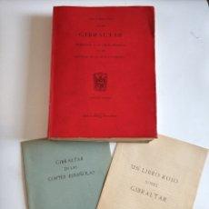 Militaria: LOTE DE DOCUMENTOS SOBRE GIBRALTAR 1965 LIBRO Y RECORTES DE PERIODICOS VARIOS. Lote 178232950