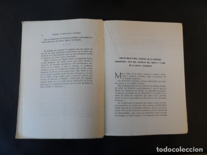 Militaria: HÉROES Y GESTAS DE LA CRUZADA. DATOS PARA LA HISTORIA. TOMÁS PRIETO. AÑO 1966. 2ª EDICION - Foto 3 - 178588102