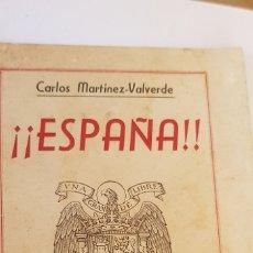 Militaria: CARLOS MARTINEZ VALVERDE-ESPAÑA-MADRIDEDITORIAL NAVAL 1949. Lote 178660202