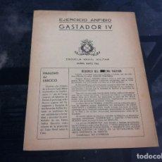 Militaria: ESCUELA NAVAL MILITAR. MARÍN 1962. EJERCICIO ANFIBIO GASTADOR IV. . Lote 178761417