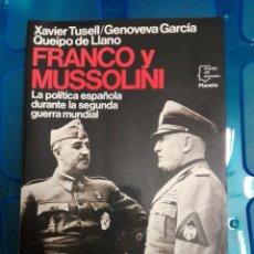Militaria: FRANCO Y MUSSOLINI. Lote 179030087