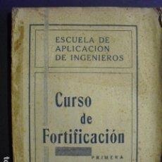 Militaria: 1939 CURSO DE FORTIFICACION PRIMERA PARTE DE LA ESCUELA DE APLICACION DE INGENIEROS. Lote 178999083