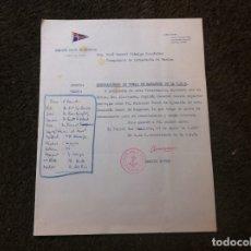 Militaria: COMISIÓN NAVAL DE REGATAS. NOMBRAMIENTO VOCAL DE NATACIÓN DE LA C.N.R. FERROL 1956. Lote 179524281
