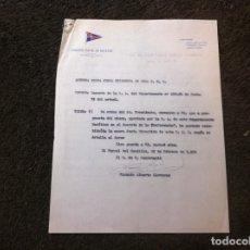 Militaria: COMISIÓN NAVAL DE REGATAS. FERROL. JUNTA DIRECTIVA. 1954. Lote 179525387