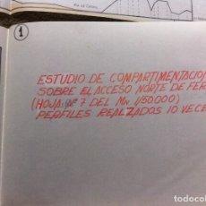 Militaria: ESTUDIO DE COMPARTIMENTACIÓN SOBRE EL ACCESO NORTE DE FERROL.... Lote 179532165