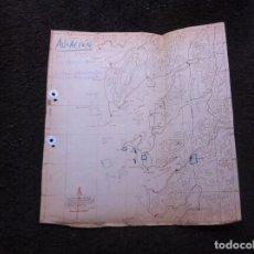 Militaria: GRÁFICO-MAPA AVIACIÓN. RÍA DE MUROS Y NOYA, AROSA, PONTEVEDRA.... MEDIDAS: 3,5 X 31,5CM. Lote 179534807