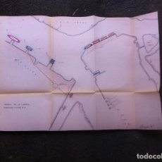 Militaria: MAPA DEL ARSENAL DE LA CARRACA, CÁDIZ. MEDIDAS 64 X 44,5CM. Lote 179535890