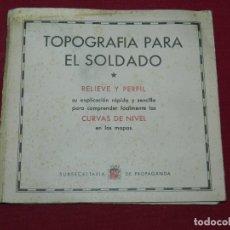 Militaria: GUERRA CIVIL - EJERCITO PULAR,-TOPOGRAFIA PARA EL SOLDADO,RELIEVE Y PERFIL,DESPLEGABLE CON MAQUETA. Lote 180014795